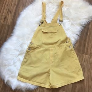 🌱Old Navy| Bright Yellow Overalls